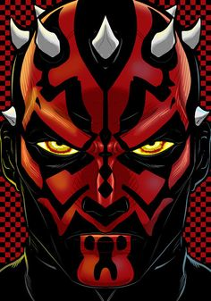 Star Wars The Phantom Menace Darth Maul art by Terry Huddleston Dark Maul, Marvel Characters, Cartoon Characters, Rick Und Morty, Comic Art, Comic Books, Star Wars Sith, Arte Dc Comics, Star Wars Pictures