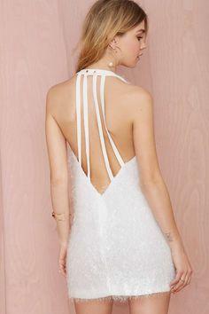 White Riot Shag Dress