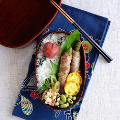 アスパラガスの豚肉巻き弁当