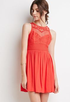 Embroidered Crepe Combo Dress - Dresses - 2000076843 - Forever 21 EU English