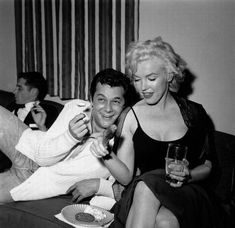 SOME LIKE IT HOT - Tony Curtis and Marilyn Monroe enjoy a plate of Mexican food - a stuffed jalapena, sausage, potato salad & a cookie.
