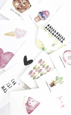 Card Designs - Watercolours - Painting - Art - Illustrations - Greeting Card - Colours - Happy Birthday - Stationery - Event Art Illustrations, Illustration Art, Painting Art, Watercolor Paintings, Card Designs, Watercolours, Stationery, Happy Birthday, Greeting Cards