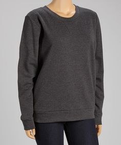 This Charcoal Sweatshirt - Plus is perfect! #zulilyfinds