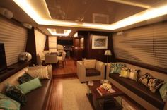 Yacht designs – Azimut a lesson in interior Azimut Yachts, Attic Bed, Bed In Closet, Yacht Design, Decorating Small Spaces, Luxury Interior Design, Bunk Beds, Manhattan, Toronto