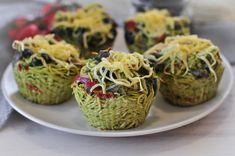 Rukkolapestos tésztamuffin Pesto, Baked Potato, Cabbage, Muffin, Potatoes, Baking, Vegetables, Ethnic Recipes, Food
