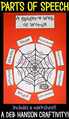Parts of Speech Worksheet and Craftivity- ideal for the month of October!