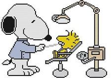 Cross Stitch Pattern Color Snoopy Beagle Dog Charlie Brown