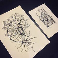 Tree Tattoo Designs, Small Tattoo Designs, Tattoo Sleeve Designs, Sleeve Tattoos, Small Thigh Tattoos, Ankle Tattoo Small, Geometric Arrow Tattoo, Triangle Tattoos, Buho Tattoo