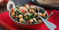 This easy curry dish is like a vegan palak paneer, with chickpeas instead of paneer and kale instead of spinach. It's a delicious and quick meal for two.
