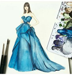 Uploaded by Umangika Dress Design Sketches, Fashion Design Sketchbook, Fashion Design Drawings, Fashion Sketches, Fashion Drawing Dresses, Fashion Illustration Dresses, Dress Illustration, Fashion Illustrations, Fashion Art