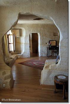 Simply wonderful cave suite at the Esbelli Evi, Ürgüp, Cappadocia, Turkey. Will confirm that's true sometime soon!