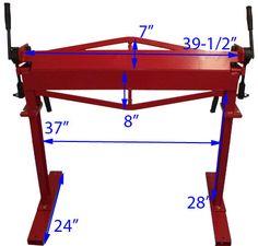 36 Brake Bender with Stand Sheet Metal Bending Plate Bender 12 Gauge