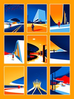 Utopia: Architectural Illustrations by Levente Szabó - Inspiration Grid | Design Inspiration