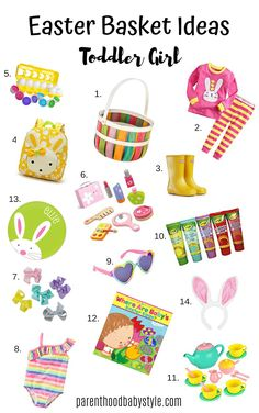 Easter Basket Ideas For Toddler Girls-Adorable And Practical Kleinkind Ostern Korb Ideen Easter Baskets For Toddlers, Easter Crafts For Kids, Easter Gift, Happy Easter, Easter Treats, Easter Party, Baby Easter Basket, Bunny Crafts, Toddler Girl Gifts