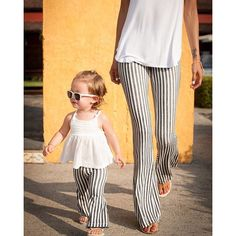 Harlow Jade matching mama and babe bell bottoms harlowjadedesign.com