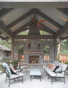 Ideas For Backyard Patio Fireplace Back Porches This image has get 0 . Ideas For Backyard Outdoor Areas, Outdoor Rooms, Outdoor Living, Outdoor Kitchens, Outdoor Patios, Backyard Fireplace, Backyard Patio, Fireplace Ideas, Pavillion Backyard