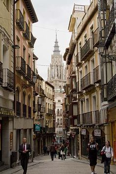 the narrow streets of Toledo, Spain