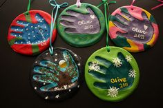 Salt Dough Handprint Ornaments. Need to do this