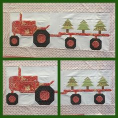Had the best 2 days sewing with great friends at FarmGirl Sew Days!❤️Got my Christmas tractor hauling Christmas trees finished and ready to embroider and quilt. Tractor pattern is in the #FarmGirlVintage  book by Lori Holt and the #haulingdayblock trailer tutorial is on @beelori1 blog. The tree is from Lori's QuiltyChristmas IG sew along. Thanks FarmGirl friends for a fun start to the Christmas Season!❤️Thanks @thimblesandthreads and staff for being so great! Thanks Lori!  #sewingwith...