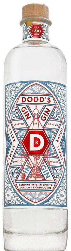 dodd's gin. the london destilleriy company. battersea. London. * juniper. angelica. fresh lime peel. bay laurel. cardamom. red raspberry leaf. london honey.
