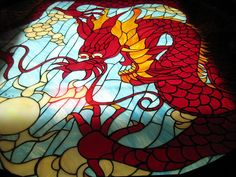 stained glass dragon
