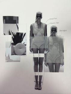 Fashion Sketchbook - fashion design development // Fashion student portfolio, Sunderland University