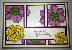 Tanja´s Stempel Zauberland: GeburtstagskartePapier/Farbe: Kandiszucker, Himb...