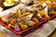 Görög sült csirke – fenséges vacsora a családnak French Toast, Food And Drink, Cheese, Meat, Chicken, Breakfast, Recipes, Morning Coffee, Recipies
