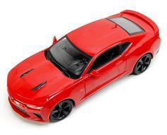 Diecast Auto World - Maisto 1/18 Scale 2016 Chevy Camaro SS Red Diecast Car Model 31689, $27.99 (http://stores.diecastautoworld.com/products/maisto-1-18-scale-2016-chevy-camaro-ss-red-diecast-car-model-31689.html/)