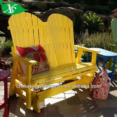 Wooden Double Adirondack Chair