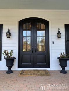 Traditional Doors by Clark Hall Doors Double Front Entry Doors, Double Doors Exterior, Front Door Entrance, House Front Door, House Entrance, Best Front Doors, Entrance Ideas, Front Entrances, Door Ideas