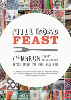 Mill Road food fair event, coming soon! With thanks to amazing graphic designer Anna Stoilova for the poster.