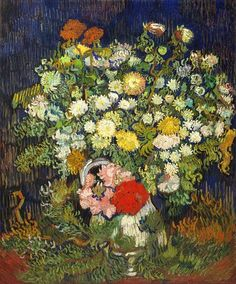 Vincent van Gogh (1853-1890) Bouquet of Flowers in a Vase 1890