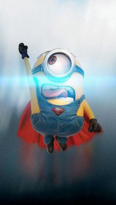 Cool Minions Superman hd iPhone 5 Wallpaper #iPhone #iPhone7 #iWatch #iPhoneWallpapers #iPad #Minions #Superman