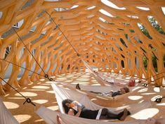 BOWOOSS - Sommerpavillon an der Schule für Architektur Saar