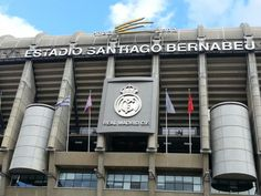 The Santiago bernabeu Football Stadium is Real Madrid's home ground. Football Stadiums, Football Players, Santiago Bernabeu, Four Square, Nba, Stuff To Do, Places To Go, Barcelona, Landscapes