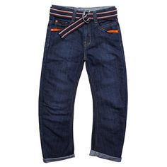 Younger Boys Belted Denim Jeans