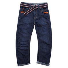 Younger Boys Belted Denim Jeans