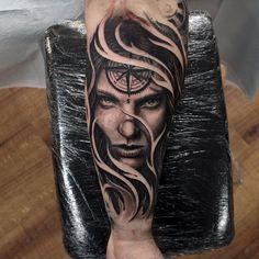 "1,465 Likes, 12 Comments - Travis Greenough (@travisgreenough) on Instagram: ""Today's work @closedcaskettattoos #closedcasket #tattoo #tattoos #tattooistartmag #inkedmag…"""