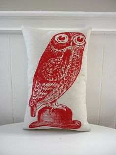 silk screened pillow