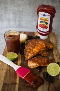 #AD Grilled chicken marinade in a chipotle, @RedGoldTomatoes Ketchup, piloncillo, honey ana fresh lime juices creates a delicious base for your next weekend grilling feast. #RedGoldTomatoes #SummerGatherings | Nothing beats chicken fresh off the grill wrapped in a warm tortilla. #chipotle #grill #grilledchicken #grilling | SweetLifeBake.com @SweetLifeBake