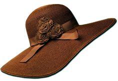 Sakkas Womens UPF 50+ 100% Paper Straw Ribbon Flower Accent Wide Brim Floppy Hat