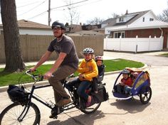 Bicycling with the kids and without the car means improving both the environment and our bodies. Biking expert and dad David Pulsipher has a few ideas.