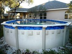 Swimming Pool Steps Above Ground . Swimming Pool Steps Above Ground . Beachy Pool Deck with Slide Above Ground Pool Fence, Above Ground Pool Landscaping, Backyard Pool Landscaping, Above Ground Swimming Pools, In Ground Pools, Landscaping Ideas, Fun Backyard, Backyard Designs, Swimming Pool Steps