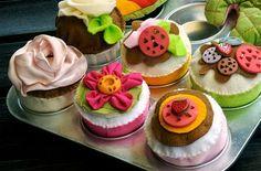 Home-'baked' Felt Cupcakes