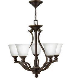 Hinkley 4655OB-OPAL Bolla 5 Light 24 inch Olde Bronze Foyer Chandelier Ceiling Light in Etched Opal #LightingNewYork
