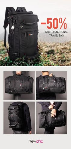 Oxford Backpack Casual Travel Single-shoulder Crossdody Bag  Multi-functional Laptop Bag For Men is high-quality. Shop on NewChic and  buy the best mens ... 755d49deaf