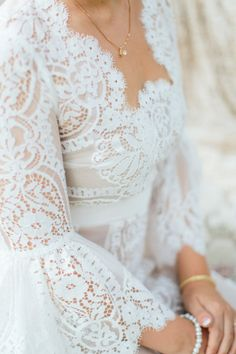 Lace dress: http://www.stylemepretty.com/little-black-book-blog/2015/01/27/whimsical-vintage-rancho-buena-vista-adobe-wedding/ | Photography: Aga Jones - http://blog.agajonesphotography.com/