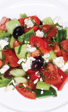 Fresh and fantastic Chopped Greek Salad recipe #BiteMeMore
