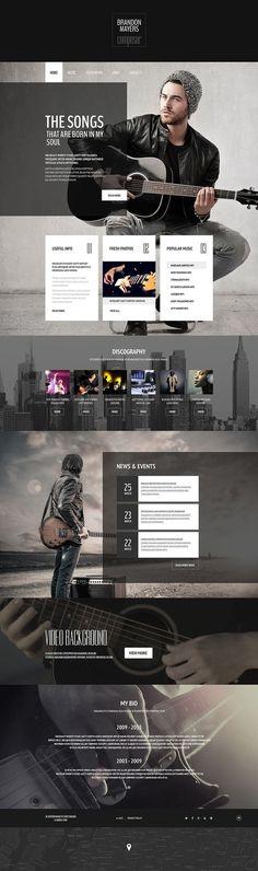 Composer's #Portfolio #Website #Template HTML5 http://www.templatemonster.com/website-templates/54996.html?utm_source=pinterest&utm_medium=timeline&utm_campaign=54996ws: